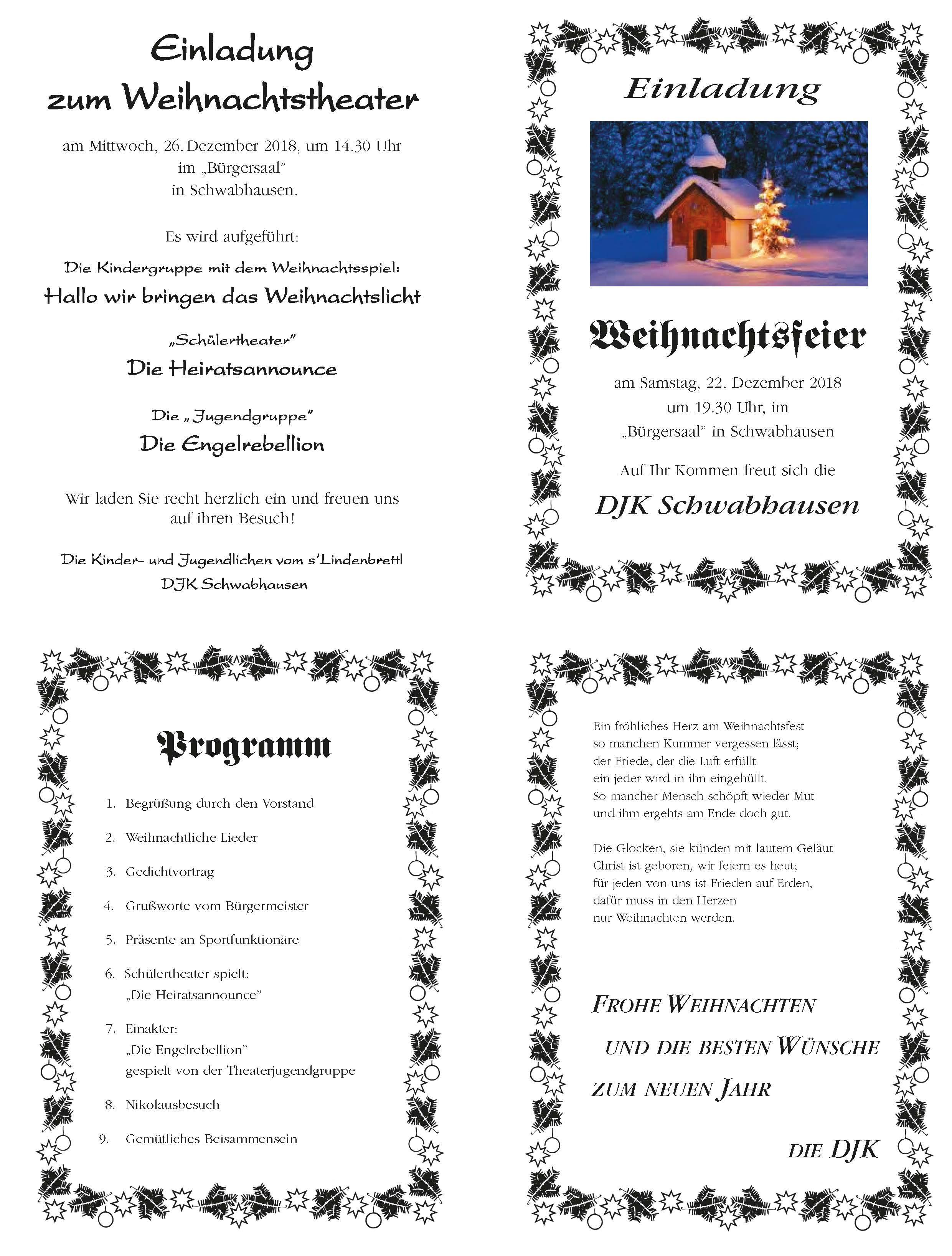 Weihnachtsfeier Begrüßung.Weihnachtsfeier Djk Startseite
